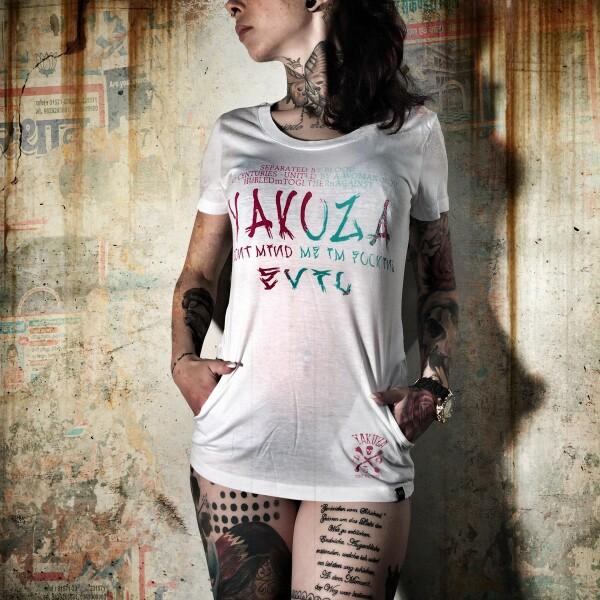 54ade25649df Yakuza Dámské tričko YK GSB617 white - Yakuza Store