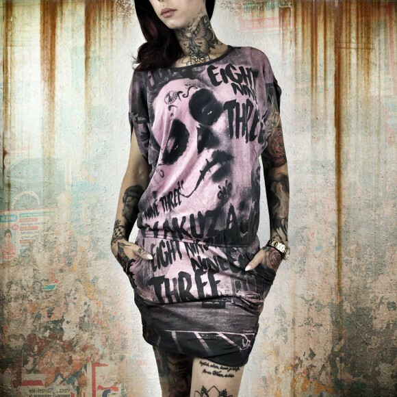 Yakuza Dámské šaty YK GKB8125 ebony - Yakuza Store 7716d59016