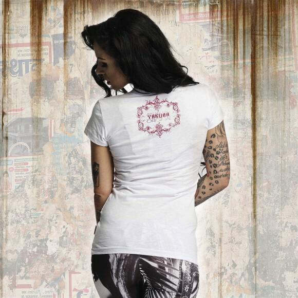 d970c291ba94 Yakuza Dámské tričko YK GSB10115 white - Yakuza Store